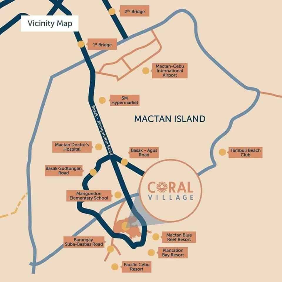 Coral Village Location Map
